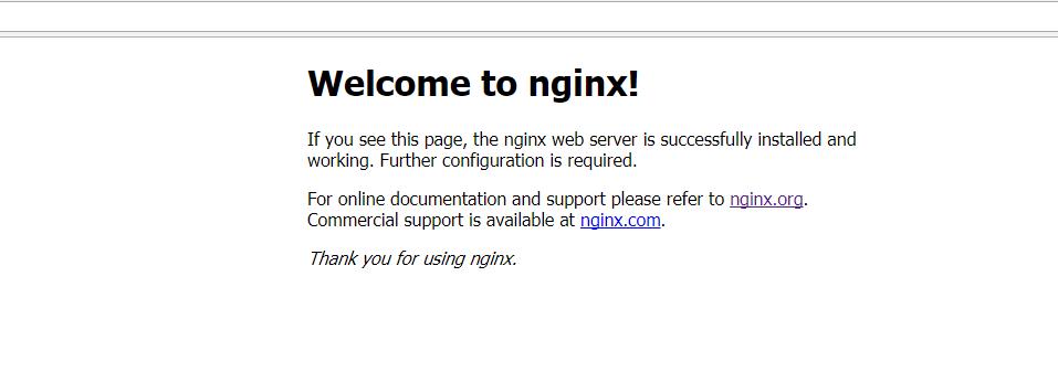 直接访问,可以看到Nginx的欢迎页